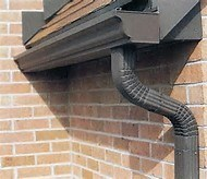 Downspouts need to be flushed twice a year